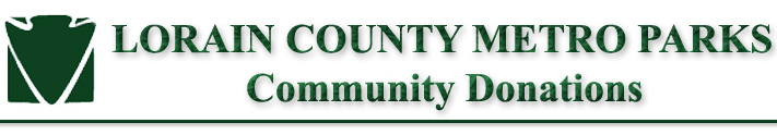 Lorain County Metro Parks Community Donations